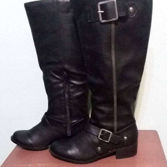 4df17534b3 Rampage Shoes | Martha Black Knee High Boots Size 85 | Poshmark